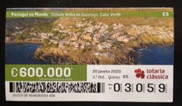 """Portugal, Lottery Ticket, ARCHITECTURE, """"Portugal In The World"""", Cape Verde, 2020 - Loterijbiljetten"""