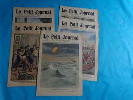 5 N° Le Petit Journal Octobre 2-9-16-23- De 1910 Noce Bretonne-grev Chemin De Fer-adieu Roi Du Portugal - Journaux - Quotidiens