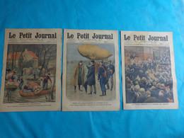 3 N° Le Petit Journal Novembre 27-20-13- De 1910 Aeronaute Williw(inondation Seance Orageuse Chambre Des Deputes - Journaux - Quotidiens