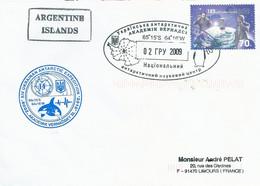 Lettre XIV Ukrainan Antarctic Expedition Avec Timbre Ukraine N°414 - Cachet Du 02/??/2009 - Forschungsprogramme