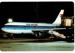 AFFICHE AIR INTER - Avion Airbus- Dim :24 X 16 Cm - Posters
