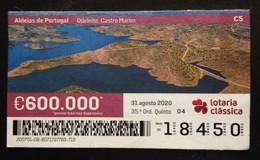 Portugal, Lottery Ticket, ARCHITECTURE, « Villages Of Portugal », 2020 - Loterijbiljetten