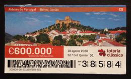 Portugal, Lottery Ticket, ARCHITECTURE, « Villages Of Portugal », Belver, 2020 - Loterijbiljetten