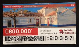 Portugal, Lottery Ticket, ARCHITECTURE, « Villages Of Portugal », Porto Covo, 2020 - Loterijbiljetten