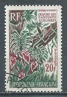 Polynésie Française YT N°35 Oeuvres Des Cantines Scolaires Oblitéré ° - Polinesia Francese