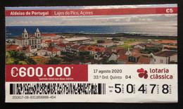 Portugal, Lottery Ticket, ARCHITECTURE, « Villages Of Portugal », Lajes Do Pico, 2020 - Loterijbiljetten