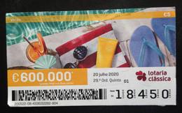 Portugal, Lottery Ticket, « SEASONS », Summer, 2020 - Loterijbiljetten