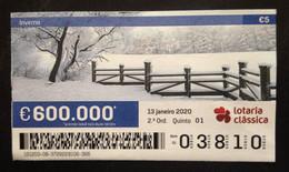Portugal, Lottery Ticket, « SEASONS », Winter, 2020 - Loterijbiljetten