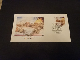 M6702- Personalised FDc Rep.Du Niger 2013 - Bataille Des Ardennes - Tanks - WW2