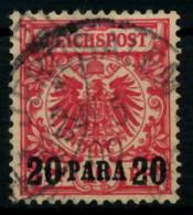 DEUTSCHE AUSLANDSPOSTÄMTER TÜRKEI Nr 7d Gestempelt X705DDE - Deutsche Post In Der Türkei