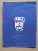 PUTNIK BEOGRAD JUGOSLAVIJA Folder / + Ticket: Povratak, Ritorno - Milano Centrale - Beograd ( 1962 ) - Europe