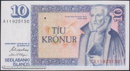 TWN - ICELAND 48a3 - 10 Kronur L.1961 (1981) Prefix A 11 - Signatures:  Hjartarson & Olafsson UNC - Islande