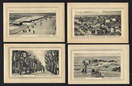Conjunto De 4 Postais Antigos De: POVOA De VARZIM Edição FRASCO & Cª. Lot Of 4 Old Postcards (Porto) PORTUGAL 1910s - Porto