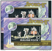 Hungary 1969. Michel Bl.#72 A+B MNH/Luxe. Space. Apollo-11. (B24) - Raumfahrt