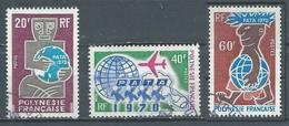 Polynésie Française YT N°77/79 P.A.T.A. 1970 Oblitéré ° - Polinesia Francese