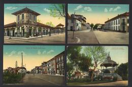 Conjunto De 4 Postais Antigos De: POVOA De VARZIM Mercado / Passeio Alegre/ Coreto. Lot 4 Old Postcards (Porto) PORTUGAL - Porto