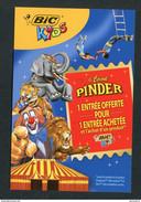"Flyer Invitation Gratuite ""Cirque Pinder / Stylos Bic"" - Clown - Circus - Saint Pair-sur-Mer - Tickets - Vouchers"