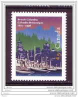 Canada, 1996, #1613, Colombie-Bitannique, Bateau, Boat, British Columbia - Barche