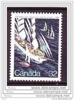 Canada, 1984, #1012, Visite Des Grands Voiliers, Tall Ships Visit, Bateau, Boat - Barche