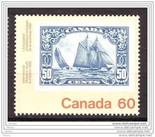 Canada, 1982, #913, Exposition Philatélique Mondiale De La Jeunesse, Youth Exhibition, Bluenose, Bateau, Voilier, Ship - Barche