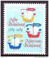 Canada, 1984, #1014, Bateau, Voilier, Ship, Boat - Barche
