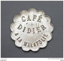 """Jeton Nécessité """"Bon Pour 12c 1/2 En Consommation / Café Didier à La Malafolie (Le Chambon-Feugerolles) Mines De Firminy - Monétaires / De Nécessité"""
