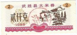 China 2 Qian Kè 1988 Wusheng UNC Ref 3754-1 - Cina