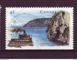 Canada, BORDO DESTRO IN BASSO, Bateau, Boat, Bois, Wood, Drave, Rivière, River, Bûcheron, Lumberjack - Barche
