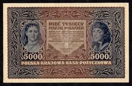 Billet POLSKA Pologne 5000 Marek III Serja H  N° 416083 - Polonia