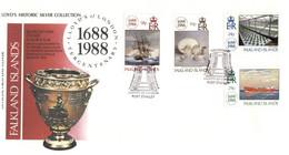 (P 8) Falkland Island - 1988 (1 FDC) Lloyd's Of London - Islas Malvinas