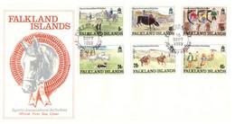 (P 8) Falkland Island- 1989 (1 FDC) Sports - Islas Malvinas