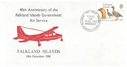 (P 8) Falkland Island- 1988 - 1990 (selection Of 3 FDC) - Islas Malvinas