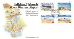 (P 8) Falkland Island- 1985 (1 FDC) Airport - Islas Malvinas
