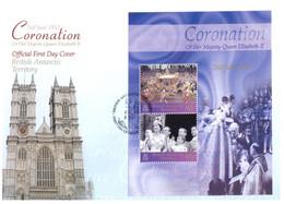 (P 8) Falkland Island - 2003 (2 FDC) Queen Coronation Anni. - Islas Malvinas