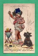 Germaine Bouret Carte Postale à Systeme Avec Decoupis  Ajoutis Et Paillettes (format 9cm X 14cm) - Bouret, Germaine