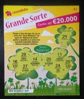 """RASP74, Lottery Tickets, Portugal, « Raspadinha », """"Big Luck"""", Nº 253 - Loterijbiljetten"""