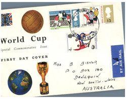 (P 8) Football - 1966 World Cup (England FDC X 2) - Coupe Du Monde