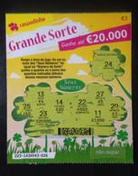 """RASP74, Lottery Tickets, Portugal, « Raspadinha », """"Big Luck"""", Nº 223 - Loterijbiljetten"""