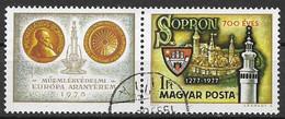 UNGHERIA 1977 ANNIVERSARIO DELLA CITTA' DE SAPRON YVERT. 2569 USATO CON BANDELLA - Used Stamps