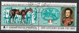 UNGHERIA 1977 ANNIVERSARIO DELLA PRIMA CORSA DEI CAVALLI YVERT. 2570 USATO CON BANDELLA VF - Used Stamps
