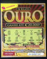 RASP74, Lottery Tickets, Portugal, « Raspadinha »,  « 24 Carat GOLD », Nº 251 - Loterijbiljetten