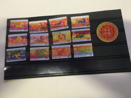 (stamps 22-09-2020) Australia Chistmas Island - (12 Stamps) Chinese New Year (scarcely See Used 12) + 1 Bonus Round - Christmas Island