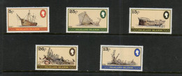 (stamps 22-09-2020) Falkland Islands  - Set Of 5 Mint Stamps (Ships) - Islas Malvinas