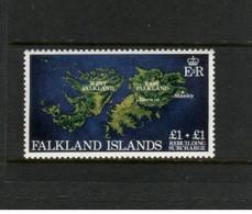 (stamps 22-09-2020) Falkland Islands  - Set Of 1 Mint Stamps (high Value) Map - Islas Malvinas