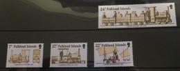 (stamps 22-09-2020) Falkland Islands  - Set Of 4 Mint Stamps (Train) - Islas Malvinas