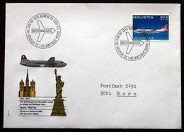 Switzerland 1972 Cover Commemorating The 25th Year Of Swissair First Cross Atlantic Flight To New York, USA ( Lot 385 ) - Svizzera