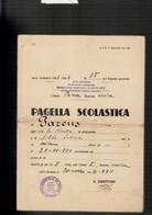 CIVENNA COMO RARA PAGELLA SCOLASTICA COLONIA MARTININ 1943/44 - Diploma's En Schoolrapporten