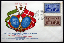 Iran FDC 3-5-1963 Visit Of The Danish King Frederik IX FDC ( Lot 388 ) - Iran