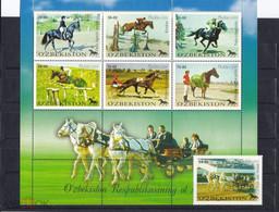 2000. Uzbekistan. Horse Racing (Mi. 247/253) MNH - Uzbekistan