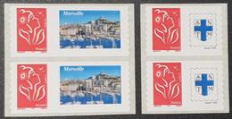 Timbres Personnalisées Autoadhésifs N° 3802A X2/3802Aa X2 (Timbre De Roulette)  Neuf **  TTB - Personalized Stamps